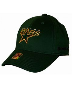Dallas Stars Reebok NHL Green Gold Mens FlexFit cap