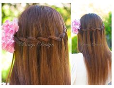#Water fall #hairstyle for straight long hair www.BingsDesign.com