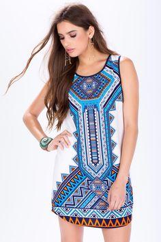Платье Размеры: M, L Цвет: синий с принтом Цена: 2033 руб.     #одежда #женщинам #платья #коопт