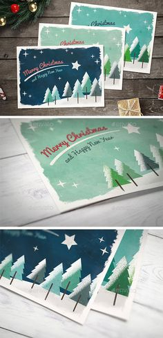 Christmas Card — Photoshop PSD #woods #holidays • Available here → https://graphicriver.net/item/christmas-card/6277833?ref=pxcr