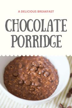A recipe for a healthy chocolate porridge. Perfect for cold mornings and winter breakfasts and the kids will love it.