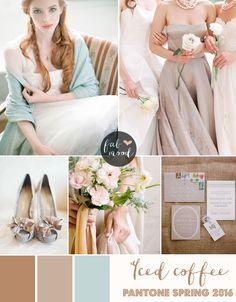 soft brown wedding theme,Iced Coffee Wedding Theme { Pantone Spring 2016 } http://www.fabmood.com/iced-coffee-wedding-theme/