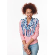 Loops & Threads® T-Shirt™ Arm Knit Fringe Cowl