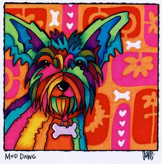 Mod Dawg by AEMgallery on Etsy, $29.00