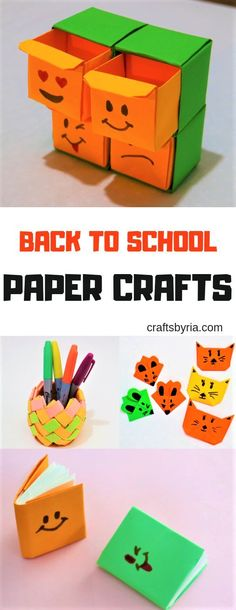 4 Fun Back to School Paper Crafts 4 Fun Back to School Paper Crafts Fun back to school paper crafts for kids. The post 4 Fun Back to School Paper Crafts appeared first on Craft for Boys. Back To School Crafts For Kids, Paper Crafts For Kids, Diy Crafts For Kids, Easy Crafts, Gifts For Kids, Paper Games, Create And Craft, Animation, Activities For Kids
