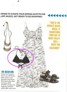 Rip Curl Aloha Too Fixed Tri Bikini in the new February 2013 edition of Foam Magazine page 41