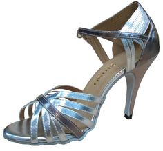 Zioso QJ6159 Womens Stiletto High Heel Silver PU Leather Modern Salsa Tango Ballroom Latin Wedding Party Evening Dance Sandals 7 M US. This shoe's sizing is equivalent to street shoe size. Peep toe,Stiletto high heel. Actual heel height:10cm. The heel height available in:10cm,8.5cm,8cm,7.5cm,7cm,6cm,5cm,If need change,Please send email to us with order number. New with box,Made in China.