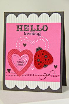 Hello Lovebug Card by Erin Lincoln for Papertrey Ink (June 2014)