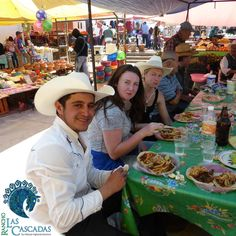 A stop on the ride to eat a tasty mexican food  http://rancholascascadas.com/explore/
