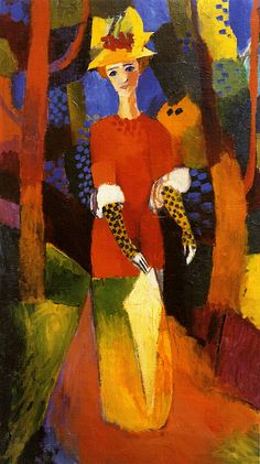 August Macke Woman In Park