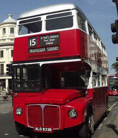 Routemaster, Double Decker Bus, Red Bus, Trafalgar Square, London Bus, London Transport, Busse, Coaches, Transportation
