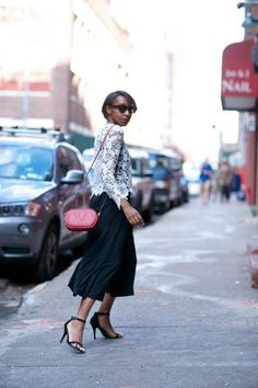 29 trendy ideas how to wear culottes chic palazzo pants Street Style 2017 Summer, Street Style Edgy, Autumn Street Style, Star Fashion, Fashion Pants, Fashion Outfits, Latest Fashion, How To Wear Culottes, Black Culottes