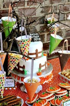 fall party deocrations   Kids Fall Birthday Party Ideas. Party favors or use the tree branches ...