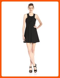 BCBGeneration Women's Mock-Neck Lace-Front Dress, Black, 12 - All about women (*Amazon Partner-Link)