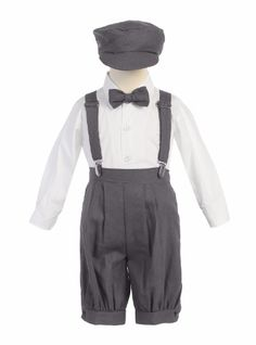 online shopping for Little Boys Charcoal Suspenders Short Pants Hat Easter Outfit Set from top store. See new offer for Little Boys Charcoal Suspenders Short Pants Hat Easter Outfit Set Outfits With Hats, Short Outfits, Boy Outfits, Baby Boys, Toddler Boys, Infant Toddler, Long Sleeve Shirt Dress, Long Sleeve Shirts, Dress Shirt