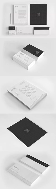 68 best corporate identity template images on pinterest in 2018 minimal premium black stationery identity template eps ai maxwellsz