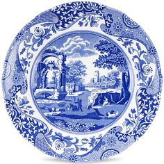 Spode Blue Italian Salad Plate (€22) found on Polyvore featuring home, kitchen & dining, dinnerware, spode, blue dinnerware, spode dinnerware, blue italian dinnerware and spode salad plates