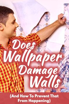 Does Wallpaper Damage Walls? How to Prevent That from Happening? Best Interior Design, My Dream Home, Walls, Wallpapers, Shit Happens, Posts, Decorating, Home Decor, Women