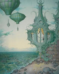 """Daniel Merriam's Solo Show of New Paintings, """"Now You See Me: The Art of Escapism""""   Hi-Fructose Magazine"""