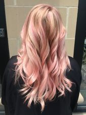 Pink moscato. Artist- Nonia Wolf www.hairbynonia.com  Lanza hair color #lanza #c...#artist #color #hair #lanza #moscato #nonia #pink #wolf #wwwhairbynoniacom #lanzahaircolor
