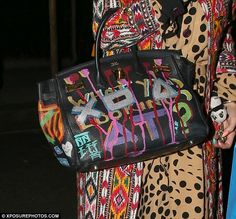 Grai Handbag Hermes Technicolor Dreamcoat And Carrying Graffiti Inspired Designer Bag