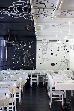 Tati al 28 restaurant, Rome, Italy. Interior design by Alessandra Marino. Bar Interior, Restaurant Interior Design, Commercial Interior Design, Commercial Interiors, Interior And Exterior, Restaurant Interiors, Pub Design, Retail Design, Hotel Restaurant