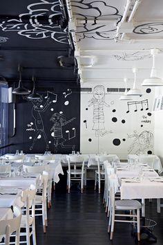 """restaurant   """"tati al 28""""    rome, italy    by alessandra marino."""