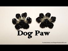 Rainbow Loom PET PAW PRINT charm. Designed and loomed by Elegant Fashion 360. Click photo for YouTube tutorial. 04/07/14