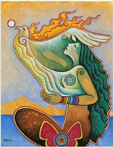 Empowering Women, Honoring the Sacred Feminine Rooted in Reverence, Seated in Spirit (rainbow warrior awaken! series) Mara Berendt Friedman egg tempera on canvas, 11 x 14 NFS Psychedelic Art, Art Amour, Art Visionnaire, Rainbow Warrior, Goddess Art, Sacred Feminine, Inspiration Art, Visionary Art, Sacred Art