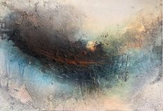 """Sunrise"", Mixed Media on woodboard, 100 x 70 x 6 cm"