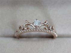Perfect for a princess at heart! Natural Diamond Ring Wedding Band Diamond Band by AbbyandWills