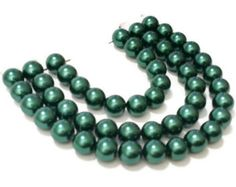 8mm Emerald Glass Pearl Beads / Green Glass Beads / DIY Jewelry Making / Glass Pearls / Glass Beads by vickysjewelrysupply. Explore more products on http://vickysjewelrysupply.etsy.com