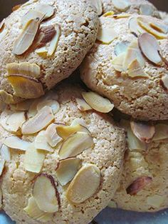 Easy almond macarons. Only 3 ingredients–almond paste, sugar and egg whites.