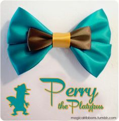 Perry the Platypus Bow by Magical Ribbons