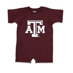 Texas A&M Aggies NCAA Beveled Logo Maroon Infant T-Romper