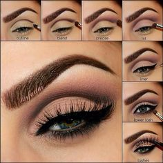 Cut crease eyeshadow