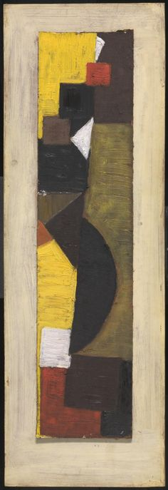 Artwork page for 'Brown and Yellow', Sir Terry Frost, British Paints, Abstract Art Images, 1950s Art, Colorful Paintings, Abstract Paintings, Art Terms, Geometric Painting, Yorkie, New Art