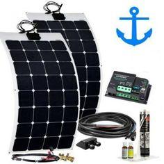 200W Solaranlage Marine Basic 12V flexibel Boot Yacht Wind Power, Vw Bus, Camper Van, Vans, Motor Homes, Camper, Entryway, Vw Camper Vans, Van
