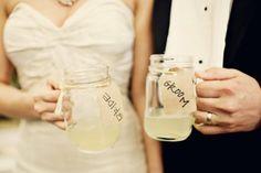 Wedding mason jar glasses