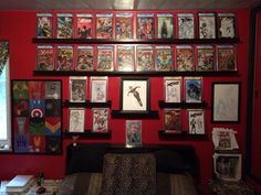 A cool fun way to use some IKEA picture shelves & display CGC graded comics