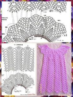 Fabulous Crochet a Little Black Crochet Dress Ideas. Georgeous Crochet a Little Black Crochet Dress Ideas. Crochet Toddler Dress, Black Crochet Dress, Baby Girl Crochet, Crochet Baby Clothes, Crochet Woman, Crochet Dresses, Gilet Crochet, Crochet Blouse, Crochet Braid