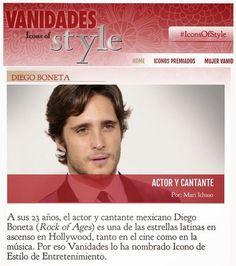 Diego Boneta Group: [NOTA] Diego Boneta es nombrado icono de Estilo de...