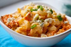 buffalo chicken mac n blue cheese