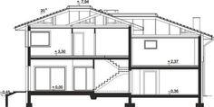 DOM.PL™ - Projekt domu ARP EMILIAN CE - DOM AP2-13 - gotowy koszt budowy Classic House Exterior, Modern Small House Design, Floor Plans, Home, Houses, Architecture House Design, Ad Home, Homes, Haus