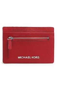 f040bd3bbf10 MICHAEL Michael Kors Saffiano Leather Card Holder available at  Nordstrom   58 Slim Wallet