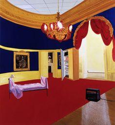 The Queen's Bedroom, 1998 by Dexter Dalwood on Curiator, the world's biggest collaborative art collection. Thea Queen, Contemporary Bedroom, Contemporary Paintings, Dexter Dalwood, But Is It Art, Social Art, Digital Museum, Queen Bedroom, Sad Art