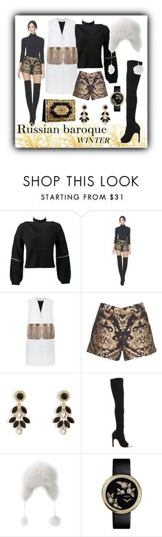 """""""Russian baroque winter"""" by xaliax ❤ liked on Polyvore featuring WithChic, Alice + Olivia, Marni, Vera Bradley and Givenchy"""
