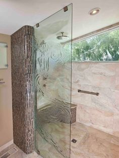 Lot's of flair in Curbless Shower with center drain.