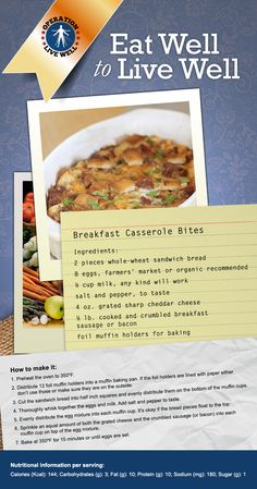 Easy breakfast casserole bites!