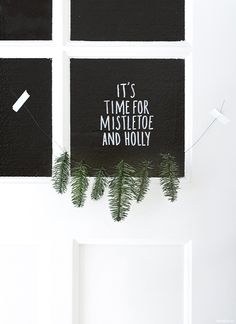 It's time for mistletoe and holly // Bloesem Living // MYDeer Christmas Christmas Time Is Here, Christmas Mood, Merry Little Christmas, Noel Christmas, Modern Christmas, Merry Xmas, Holiday Fun, Black Christmas, Christmas Design